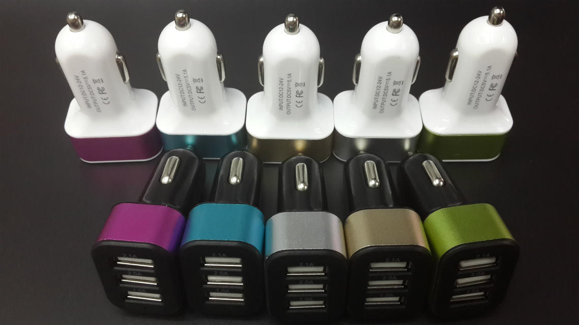 Universal 3-USB Car Charger